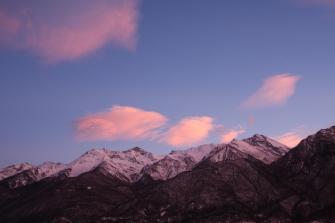 Tramonto sul Monte Orsiera