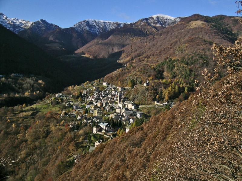 Il paesino di Finero alla testata della Valle Cannobina